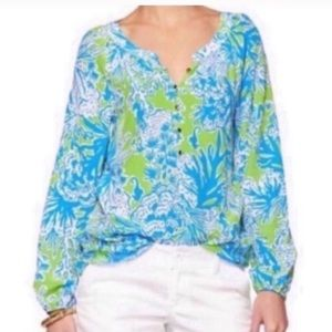 Lilly Pulitzer Camille Silk Top
